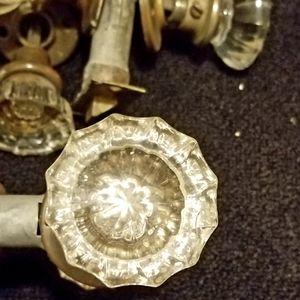 Glass doorknobs sets both sides